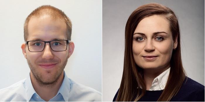 Simon Lundegard och Fanny Åkerström sitter i Sveriges Ingenjörers teknologråd. Foto: Privat och Marcus Ekman.